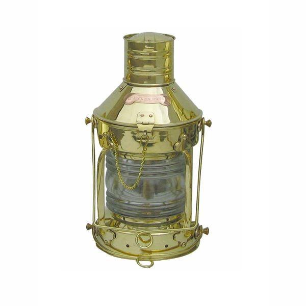 Ankerlampe Schiffslampe 39cm Messing Petroleumbrenner
