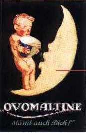 Blechschild Ovomaltine Halbmond retro Reklame Schild Nostalgieschild