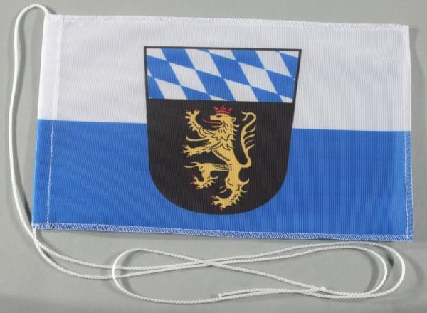 Tischflagge Oberbayern Ober Bayern 25x15 cm optional mit Holz- oder Chromständer Tischfahne Tischfäh