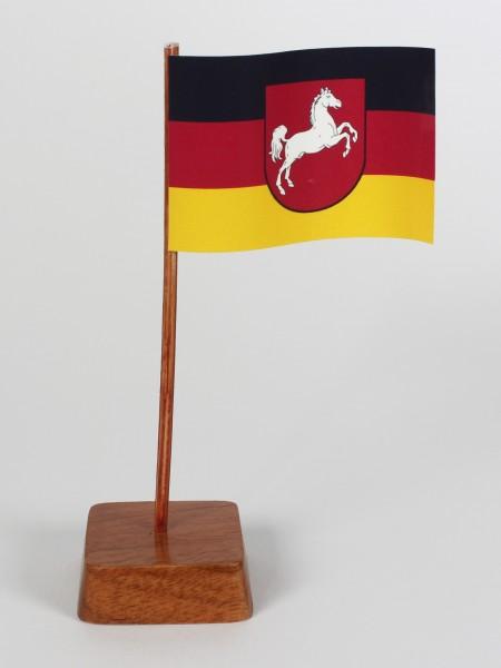 Mini Tischflagge Niedersachsen Höhe 13 cm Tischfähnchen