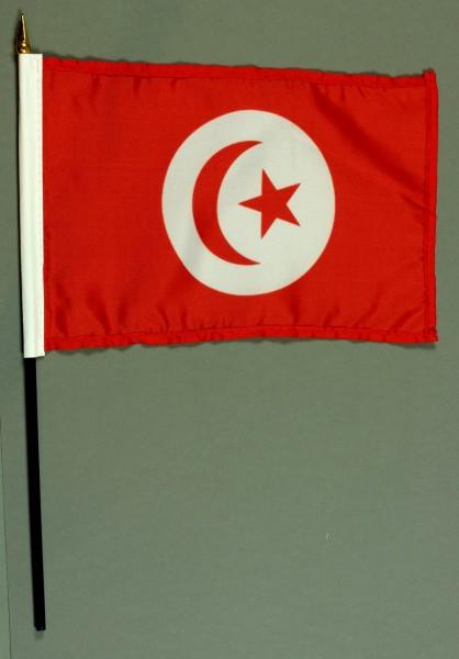 Tischflagge Tunesien 15x25 cm BASIC optional mit Tischflaggenständer