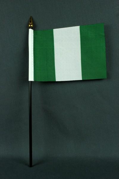 Kleine Tischflagge Nigeria 10x15 cm optional mit Tischfähnchenständer