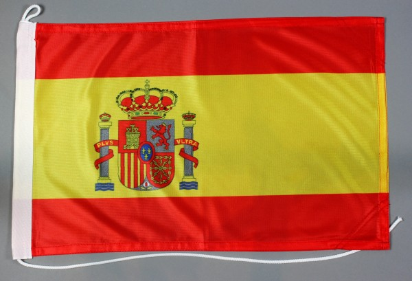 Bootsflagge Spanien 30x45 cm Motorradflagge Bootsfahne