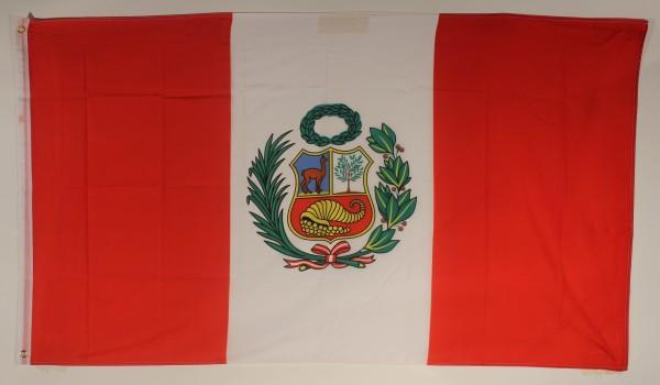 Flagge Fahne Peru mit Wappen 90x60 cm