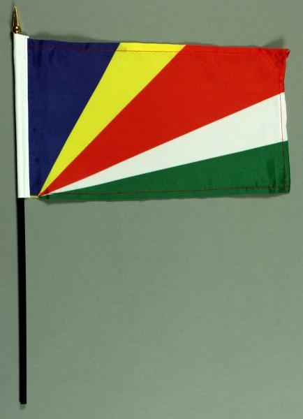 Tischflagge Seychellen 25x15 cm BASIC optional mit Tischflaggenständer