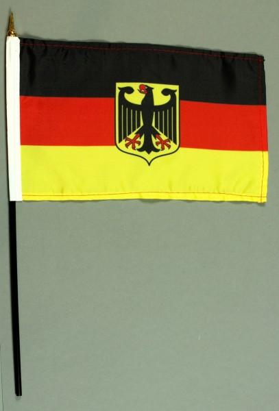 Tischflagge Deutschland Dienstflagge Adler Wappen 25x15 cm BASIC optional mit Tischflaggenständer