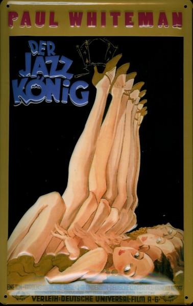 Blechschild Nostalgieschild Der Jazz König Paul Whiteman Tänzerinnen