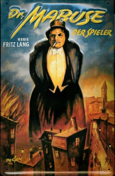 Blechschild Nostalgieschild Dr. Mabuse Der Spieler Filmplakat