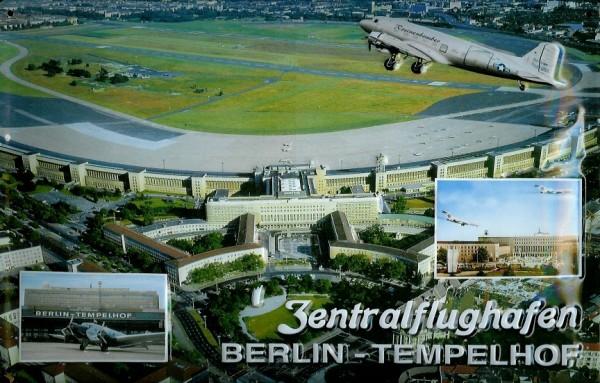 Blechschild Flughafen Berlin Tempelhof Zentralflughafen Airport Schild Nostalgieschild