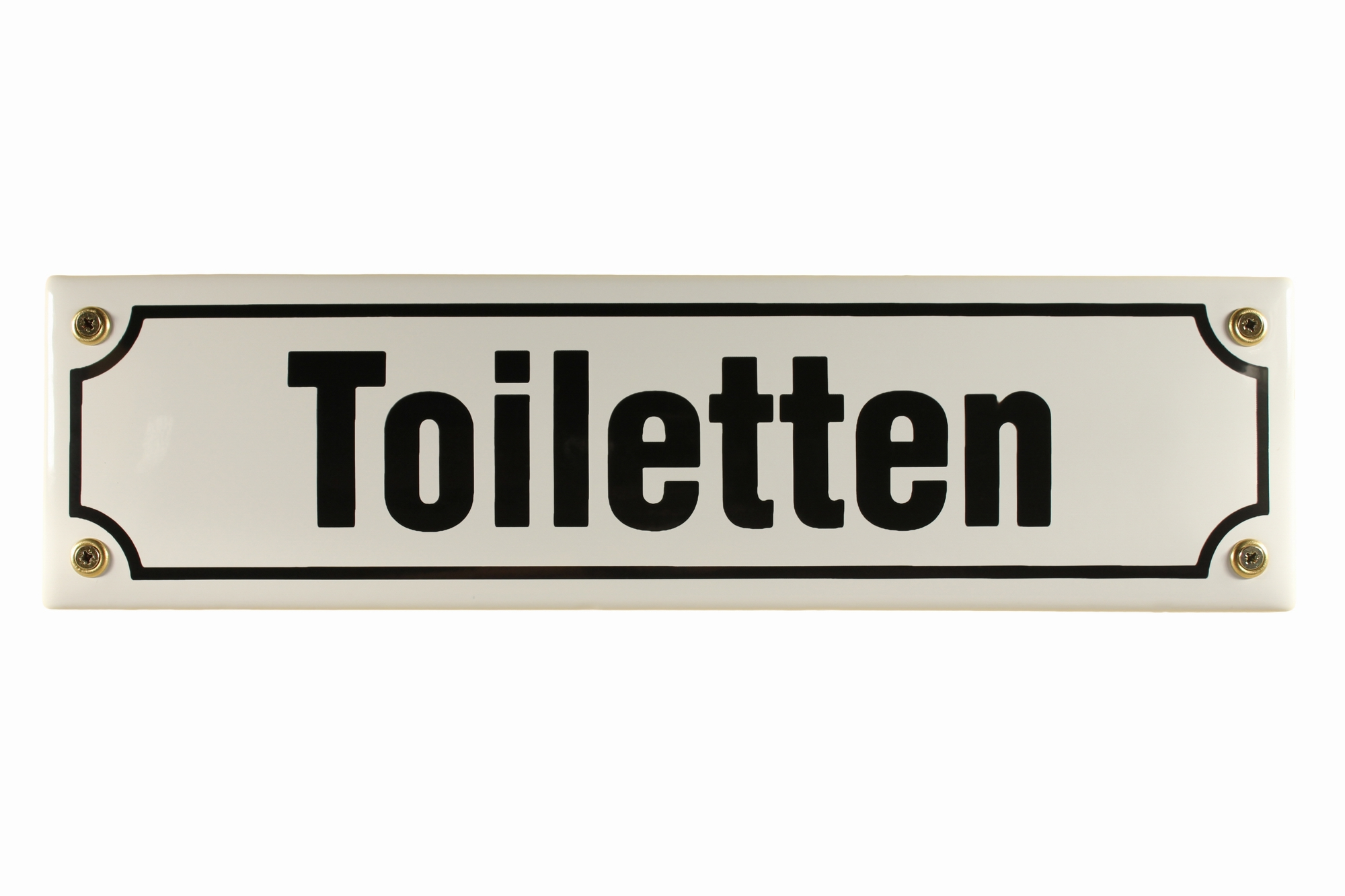 strassenschild toiletten 30x8 cm email t r schild emaille wc t rschild stra enschilder emaille. Black Bedroom Furniture Sets. Home Design Ideas