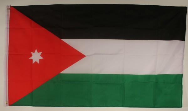 Flagge Fahne : Jordanien Nationalflagge Nationalfahne
