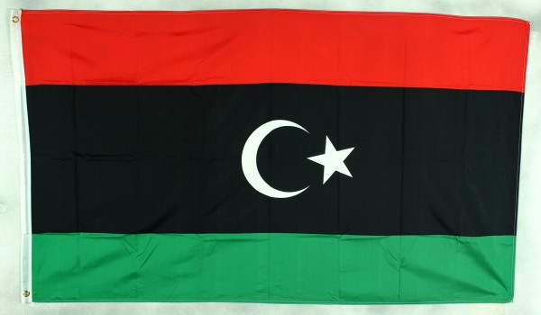 Flagge Fahne Libyen neu Halbmond Libyenflagge Nationalflagge Nationalfahne Lybien