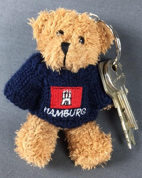 Schlüsselanhänger Teddy Bär mit Hamburg-Wappen