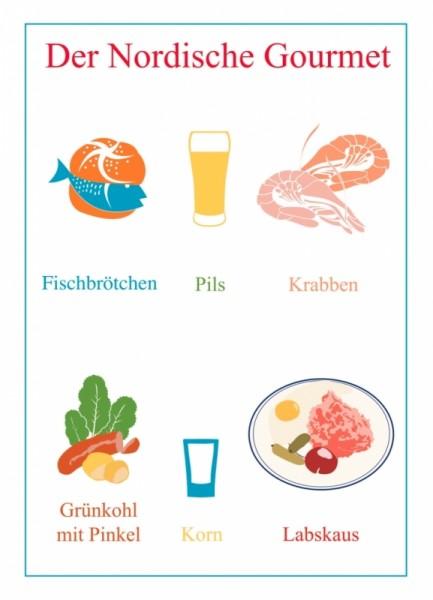 Postkarte Der nordische Gourmet