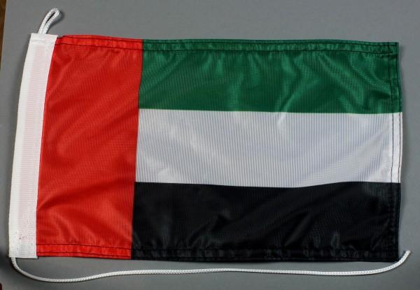 Bootsflagge : Vereinigte Arabische Emirate 30x20 cm Motorradflagge
