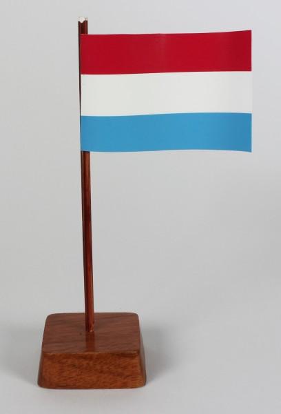 Mini Tischflagge Luxemburg Höhe 13 cm Tischfähnchen