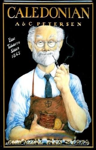 Blechschild Nostalgieschild Caledonian Tobacco Paris Tabak Pfeife