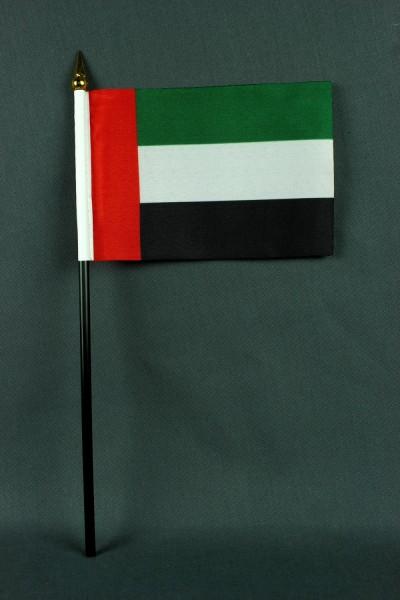Kleine Tischflagge Vereinigte Arabische Emirate VAE UAE 10x15 cm optional mit Tischfähnchenständer