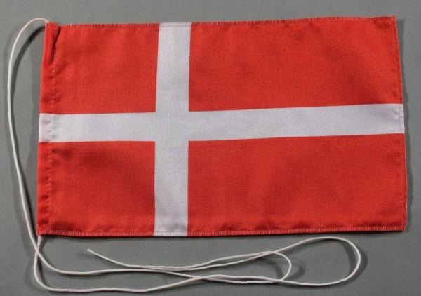 Tischflagge Dänemark 25x15 cm optional mit Holz- oder Chromständer Tischfahne Tischfähnchen