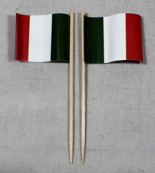 Party-Picker Flagge Italien Papierfähnchen in Spitzenqualität 50 Stück Beutel