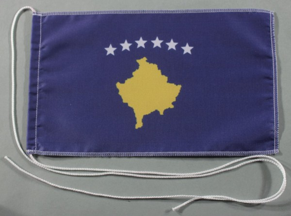 Tischflagge Kosovo 25x15 cm optional mit Holz- oder Chromständer Tischfahne Tischfähnchen