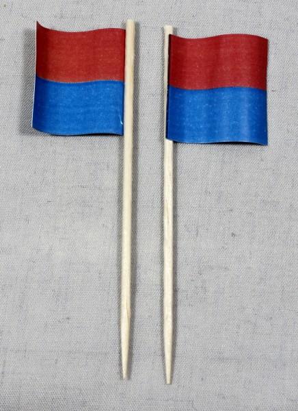 Party-Picker Flagge Tessin Kanton Schweiz Papierfähnchen in Spitzenqualität 50 Stück Beutel