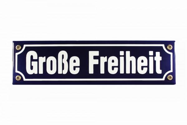 Strassenschild Große Freiheit 30x8 cm Hamburg St. Pauli Andenken Emaille Türschild