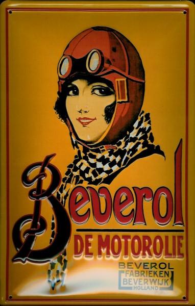 Blechschild Nostalgieschild Beverol Motoröl Holland