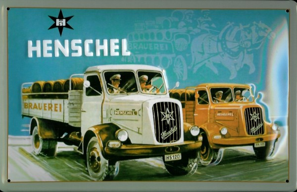 Blechschild Henschel 2 LKW Nostalgieschild Schild
