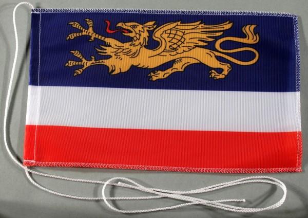 Tischflagge Rostock Stadtflagge 25x15 cm optional mit Holz- oder Chromständer Tischfahne Tischfähnch