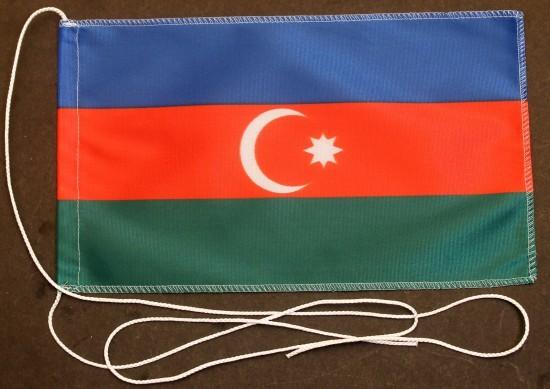 Tischflagge Aserbaidschan 25x15 cm optional mit Holz- oder Chromständer Tischfahne Tischfähnchen