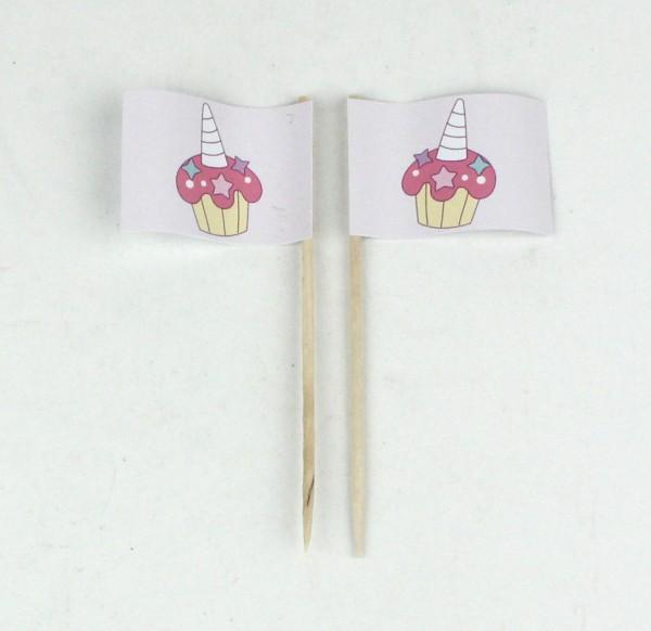 Party-Picker Flagge Cupcake Muffin Einhorn Papierfähnchen in Spitzenqualität 50 Stück Beutel