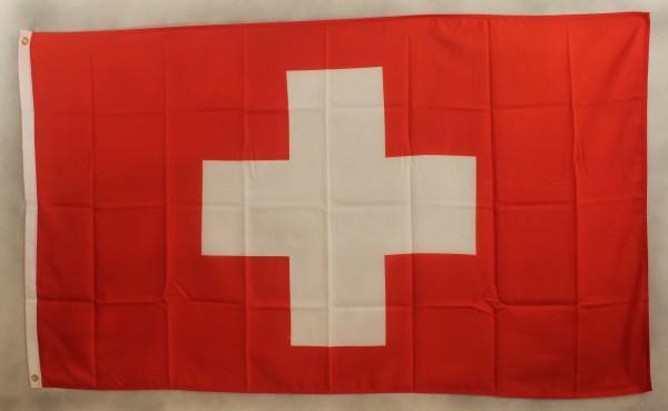 Flagge Fahne Schweiz 90x60 cm Schweizerfahne