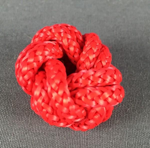 Makrameeknoten rot für Halstuch