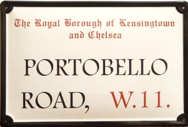 Blechschild Nostalgieschild Portobello Road London Strassenschild