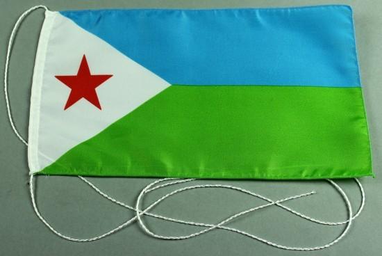 Tischflagge Dschibuti 25x15 cm optional mit Holz- oder Chromständer Tischfahne Tischfähnchen