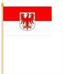 Stockflagge Brandenburg 30x45cm