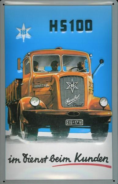 Blechschild Henschel H5100 LKW Nostalgieschild Schild