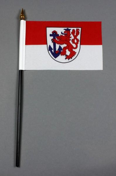 Kleine Tischflagge Düsseldorf 10x15 cm optional mit Tischfähnchenständer