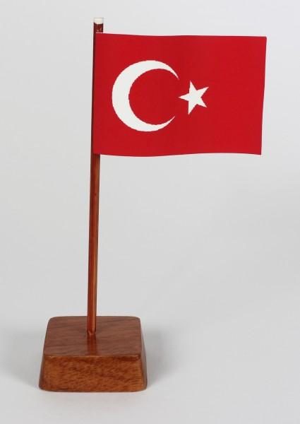 Mini Tischflagge Türkei Höhe 13 cm Tischfähnchen