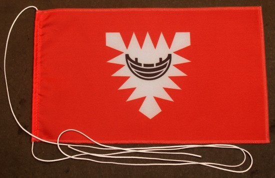 Tischflagge Kiel 25x15 cm optional mit Holz- oder Chromständer Tischfahne Tischfähnchen