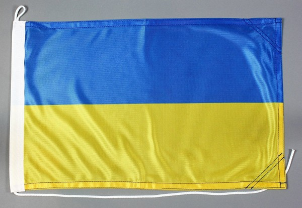 Bootsflagge : Ukraine 30x20 cm Motorradflagge