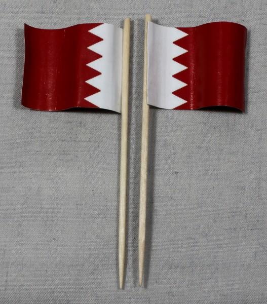 Party-Picker Flagge Bahrain Papierfähnchen in Spitzenqualität 50 Stück Beutel