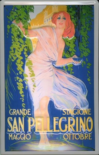 Blechschild Nostalgieschild San Pellegrino Italien