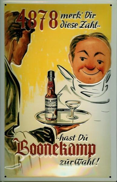 Blechschild Boonekamp 4878 Magenbitter Retro Reklame Schild Nostalgieschild