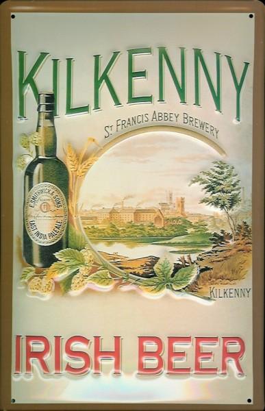 Blechschild Kilkenny Irish Beer St. Francis Abbey brewery Schild Nostalgieschild