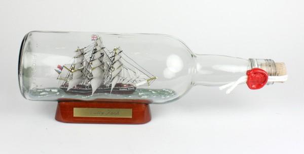 Cutty Sark 700 ml runde Flasche Buddelschiff Museumsqualität