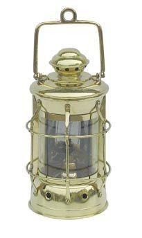 Nelson-Lampe Schiffslampe 28cm Petroleum Messing Nelsonlampe