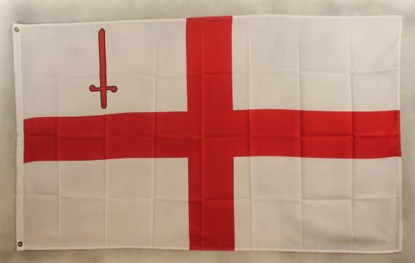 Flagge Fahne : London Stadtflagge Londonflagge