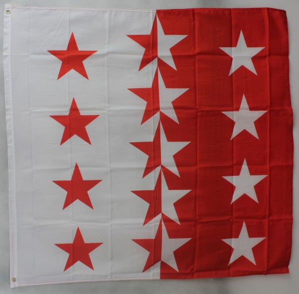 Flagge Fahne : Wallis Schweiz Wallisflagge Kanton